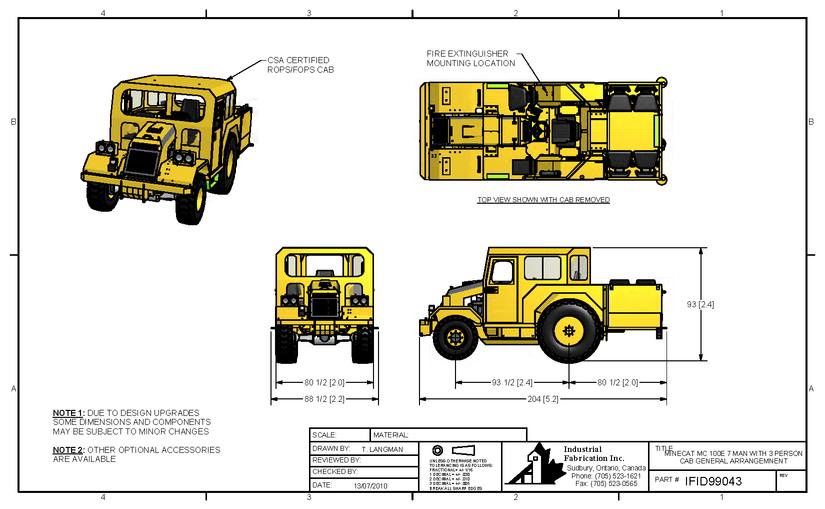 MC150-Kabin Konfigürasyonlari