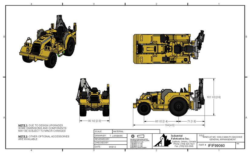 MC150-Kazici (Backhoe) Konfigurasyonlari